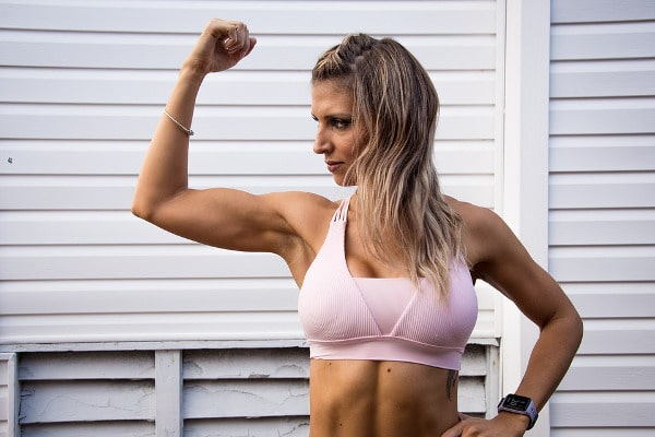 Women and Muscle - Woman Flexing Bicep