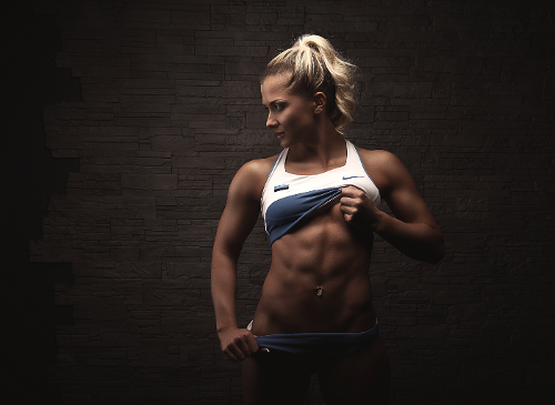 Fitness Model Showing Abs