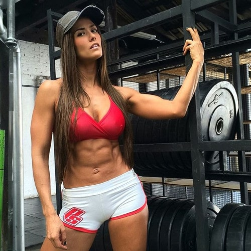 Female fitness model posing