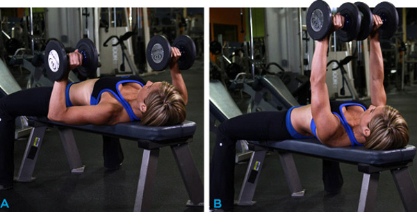 Woman doing dumbbell Press