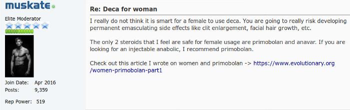 Forum screenshot Deca Women