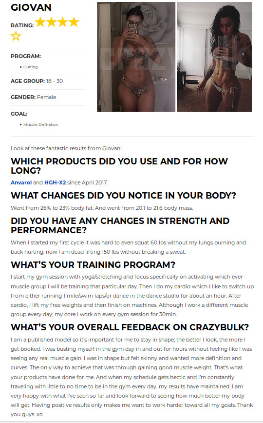 Before and After Using Crazy Bulk HGH-X2