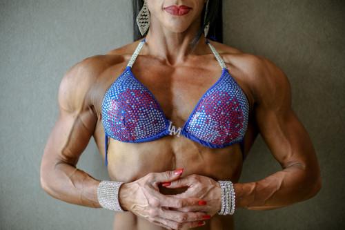 Vascular female bodybuilder