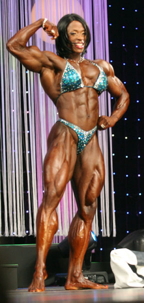 Female Bodybuilder Posing