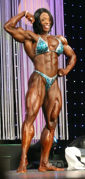 Female Bodybuilder Posing
