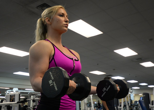 Female Bodybuilder Working Out
