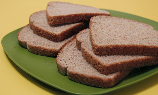 Plate with Whole Wheat Bread