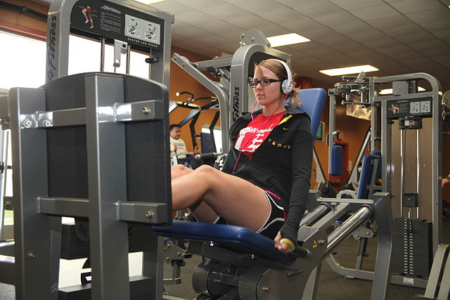 Woman Working Out Legs
