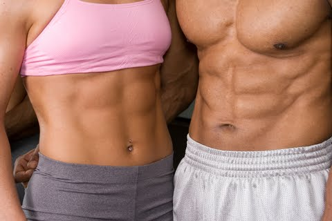 Man and Woman Showing of Abs