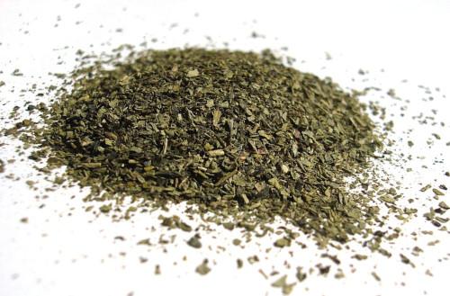 Crushed Green Tea Leaves