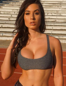 Fitness model nice breasts
