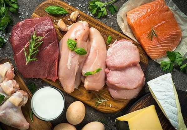 Healthy proteins meat and fish