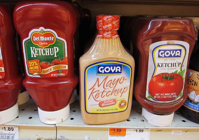 Mayonaise Ketchup condiments