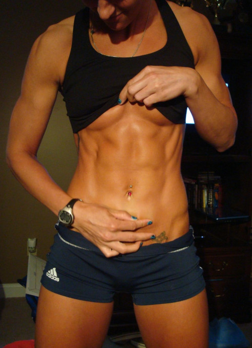 Woman with Six Pack Abs