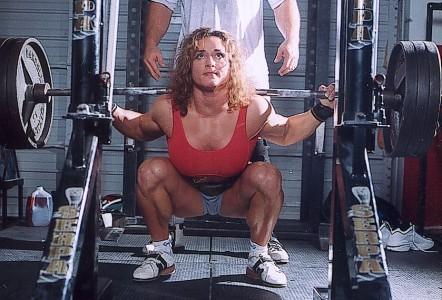 Woman Training Legs
